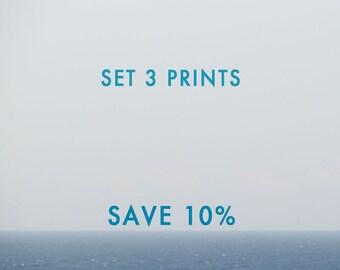 Set of 3 prints, set of 3 wall art, gallery wall set, gallery wall prints, gallery wall art, Save 10%, Custom Print Set, Fine Art