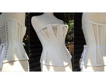 Corset Pattern! Edith - an 8 panel gusseted demi-bust corset pattern size (UK) 10-20, (US) 6-16