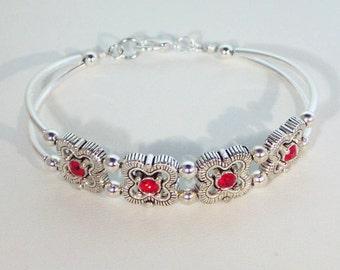 Swarovski Ruby Crystal Bracelet - Birthstone, Bridal - Shown in Siam