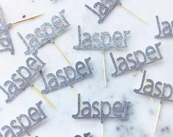 Custom Name Cupcake Toppers. Personalised Name Cupcake Toppers. Name Cupcake Toppers. Cupcake Toppers. All colours available.