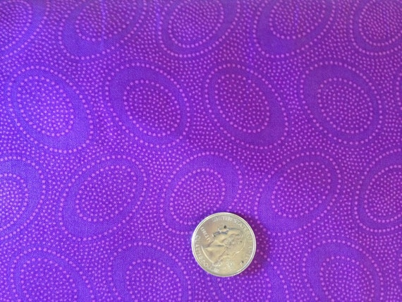 ABORIGINAL DOT GP71 Plum Purple Kaffe Fassett Sold in 1/2 yard increments