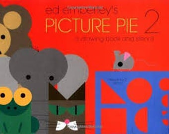 Ed Emberley's Picture Pie 2 - a drawing book and stencil
