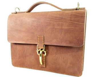 American Harness Belting Leather Briefcase