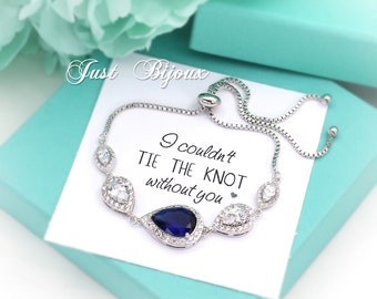 Wedding Bracelet Platinum plated Navy Zirconia Bracelet Blue Bracelet Blue Bracelet Bridal Bracelet Bridesmaid bracelet Bridesmaid Gift Navy