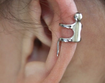 Ear climber person earring