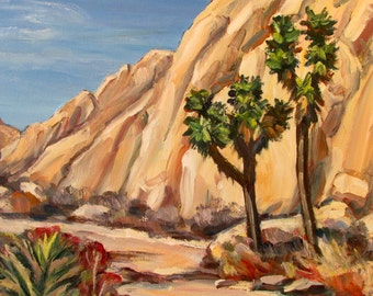 Joshua Trees and Cliffs