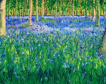 Giclee print, Bluebell Forest II, 6 x 12 in.
