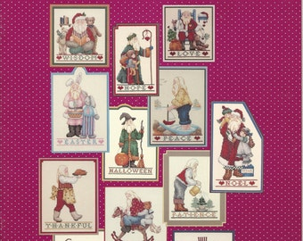 The Santa Monthly and Santa's Better Half Cross Stitch Charts