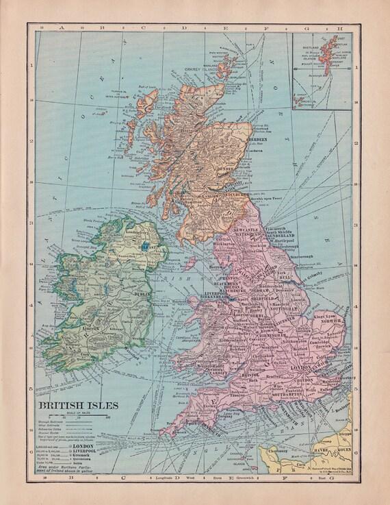 Map of england fleece blanket throw british isles scotland gumiabroncs Choice Image