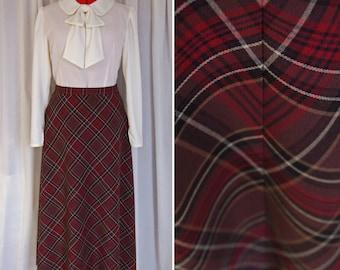 Peppermint Mocha Skirt / Custom Length / New Handmade Vintage-Style Skirt / 1930s / 1940s / Retro / Sz M-L