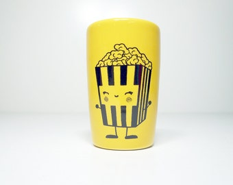 itty bitty cylinder happy popcorn - Made to Order / Pick Your Colour