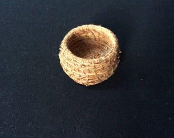Miniature Pine Needle Basket