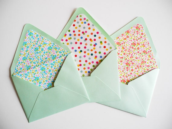 Diy Envelope Template Or Envelope Liner Kit