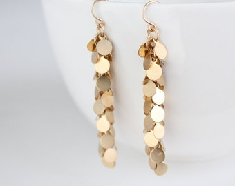 Gold Swing Earrings - Gia
