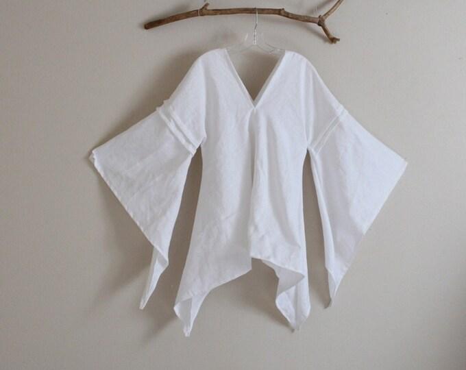 custom eco linen swallow top