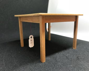 "1"" or 1/12 Scale Miniature Signed Table"