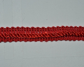 Red Braid Trim  Lot of  5 3/4 yards with FREE SHIPPING!