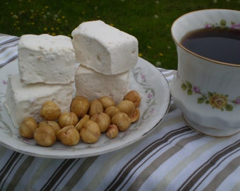 Hazelnut Cinnamon Coffee Marshmallows dessert table candy buffet s'more party shower favors snacks edible gift gourmet