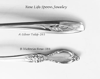 "Spoon Bracelet ""Choose Your Pattern"" Vintage Handmade Silverware Christmas  Wedding Gift Fork Jewelry Antique Bracelet Gift For Her Rose-14"