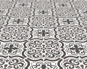 Elegant Moroccan Full Tile Decal Vinyl Stickers Pack / Floor Flooring Bathroom Kitchen Stairs Self Adhesive Removable Peel and Stick T030