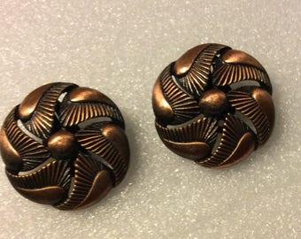 Copper Clipback Earrings