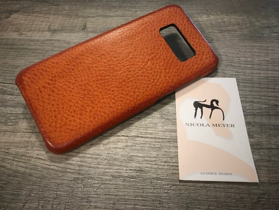 NEW for SALE Only 1 Piece Samsung Galaxy S8 Leather Case genuine natural leather to use as protection BRANDY