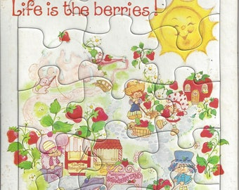 Vintage Strawberry Shortcake Life is the Berries Children's Jigsaw Puzzle, 1981