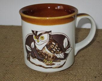 OTAGIRI Mug OWL Brown Glaze Interior