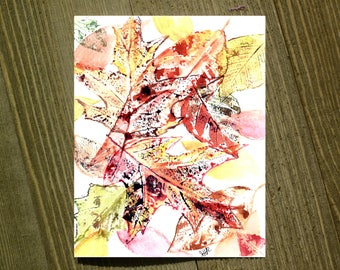 Autumn Leaves - Note card sets featuring designs by Jackie Rizzo - Pack of 12 with envelopes