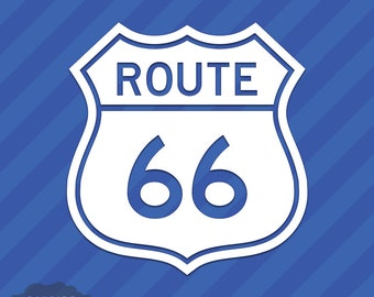 Route 66 Vinyl Sticker Decal