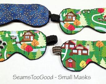 Small - medium size sleep masks. Comfortable Eye Masks. Camping Eye Masks.   #SM 112