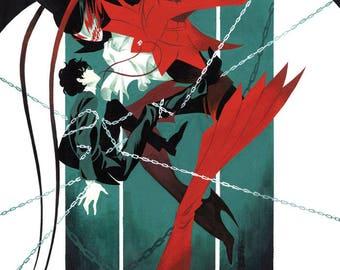 "Persona 5 Print ""Prisoner"" - Digital Lazer Print from Gouache Painting"
