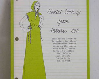 Stretch & Sew Pattern Ideas - Hooded Cover-up from Pattern 250 (Tab Front Top with Cap Sleeves)