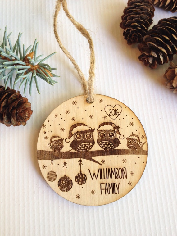 Items similar to Personalized Christmas ornament, engraved ...