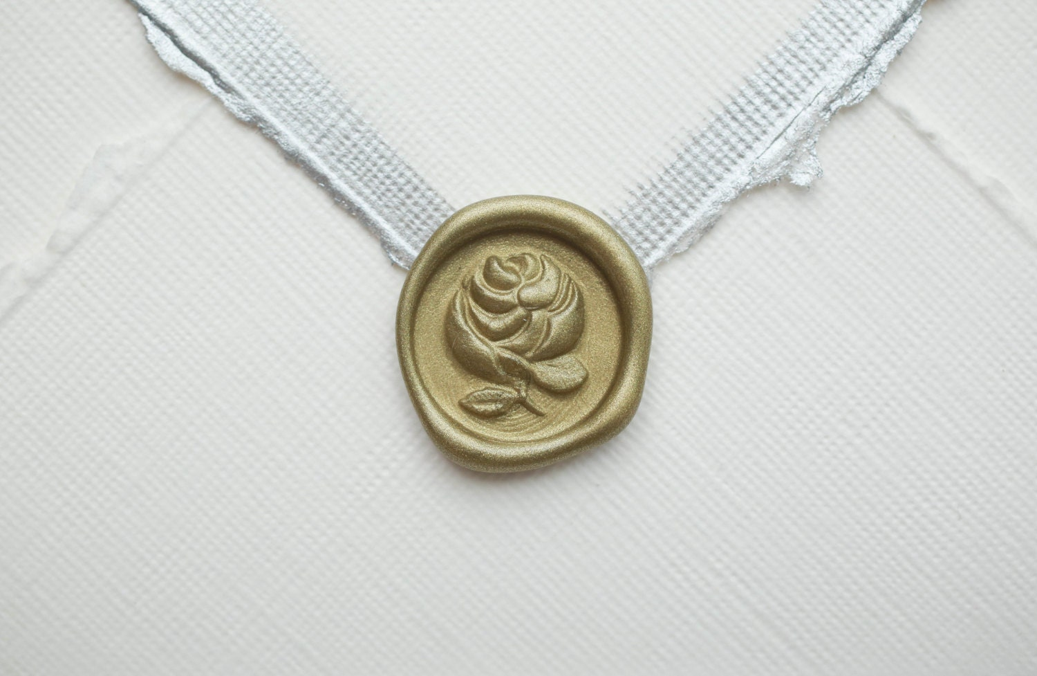 Rose Wedding Seal Peel and Stick Wax Seal in Custom Colors