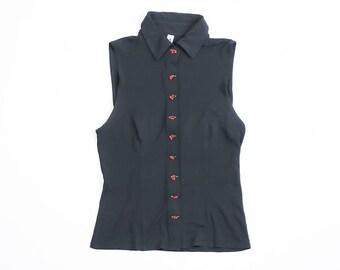 MOSCHINO - Sleeveless Silk bluse