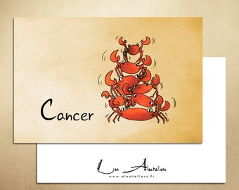 Card sign of Zodiac - Cancer