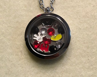 Mickey Mouse Floating Charm Necklace