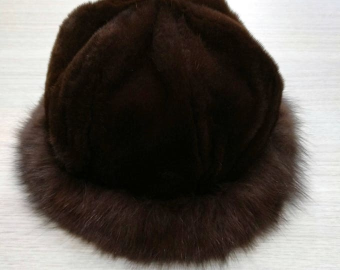 Real Hat Rabbit and Fox Fur Winter Hat  F608