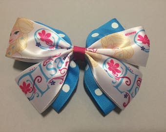 Queen Elsa of Arendale Hair Bow, Disney Hair Bow, Frozen Hair Bow