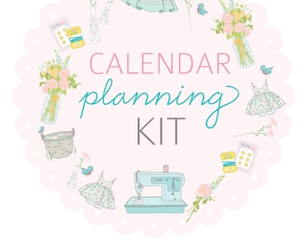 LETTER size CALENDAR Planning Kit- Digital File Instant Download- week at a glance, month at a glance with scripture