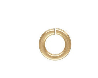 10 Pcs, 14k Gold Filled Jump Ring C&L 18ga (1.0x5.0mm) (GP-4004521)