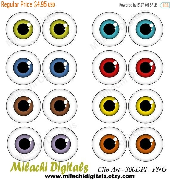 50 off sale googly eyes clipart monster eyes clipart vector rh etsystudio com monster with no eyes clipart Little Monster Clip Art