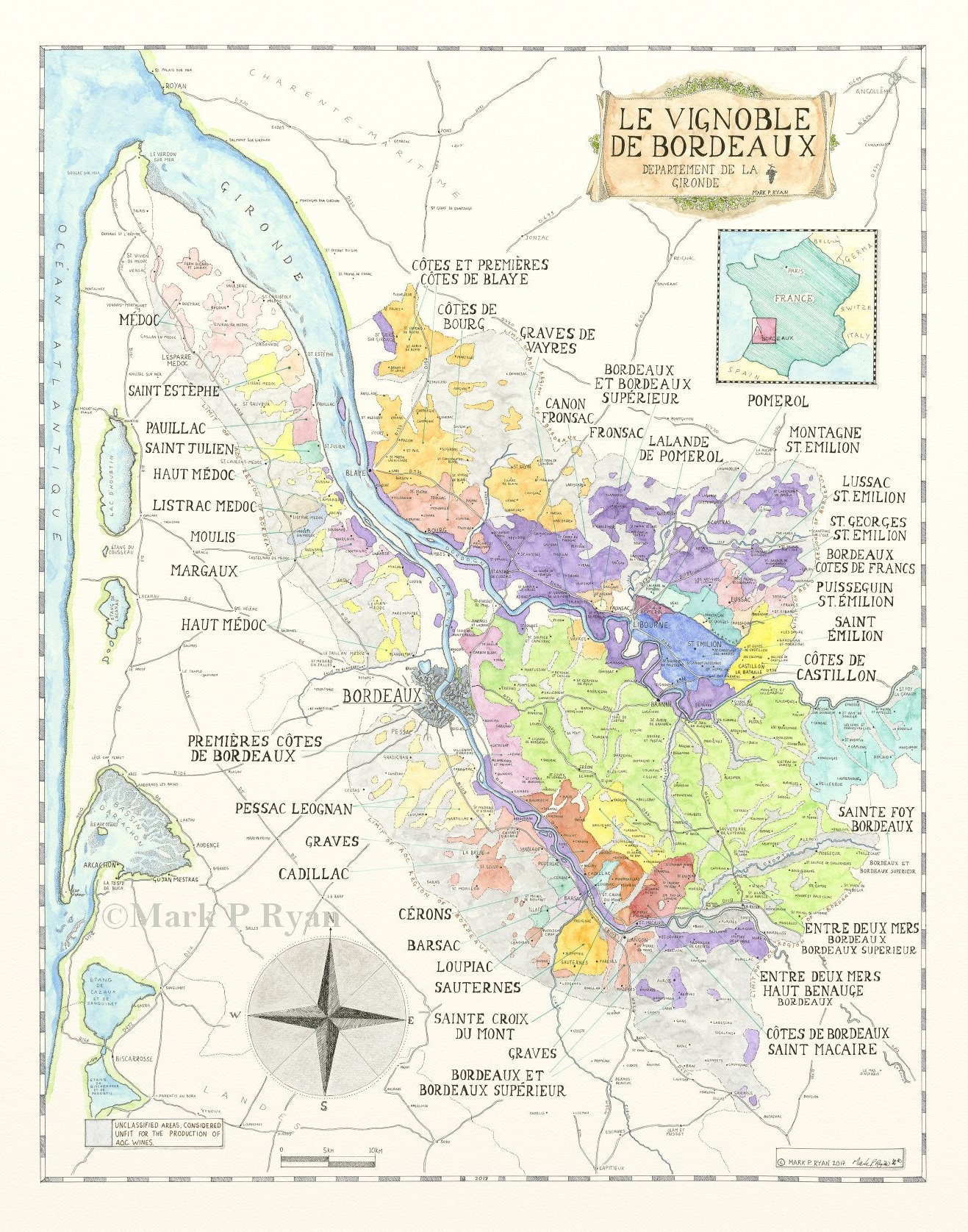 Bordeaux Wine Map France Wine Map Bordeaux Wine Region map