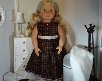 "Pretty in Plaid--Perfect for 18"" Dolls"