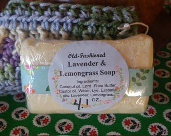 lavender and lemongrass soap