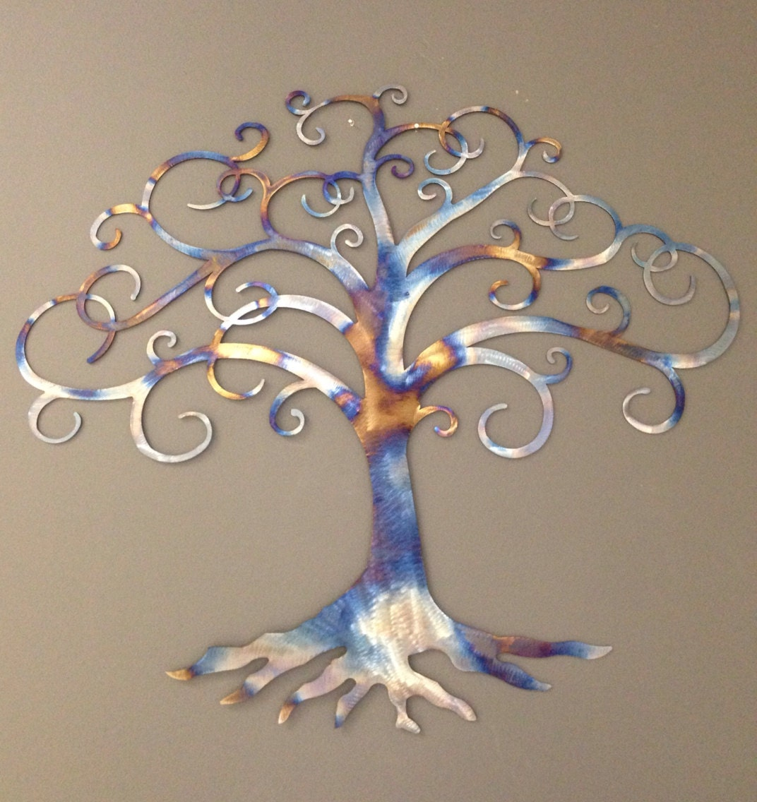 Tree Of Life Metal Wall Art Tree Of Life Industrial Metal Wall Art 36W
