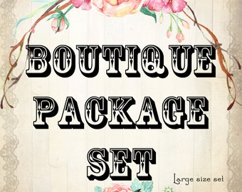 Custom BOUTIQUE PACKAGE Large, Jewelry Cards, Boutique Tags, Custom Cards, Earring Cards, Business Cards, Package Set