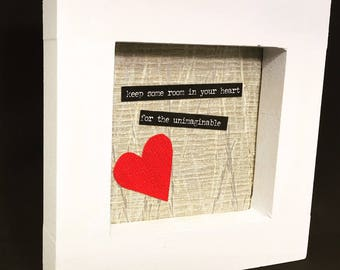 Heart Art Wood Framed Collage