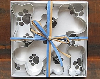 Five Piece Doggie Treat Cookie Cutter Set - Dog Cookie Cutters, Mini Cookie Cutters, Dog Cookie Cutter Set, Dog Treat Cookie Cutters